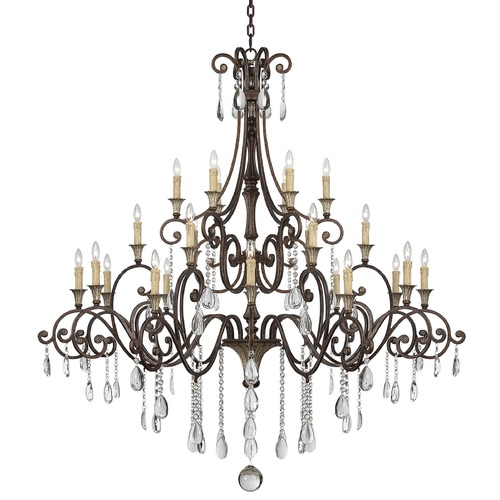 Savoy House Savoy House New Tortoise Shell W/silver Crystal Chandelier 1-3004-24-8