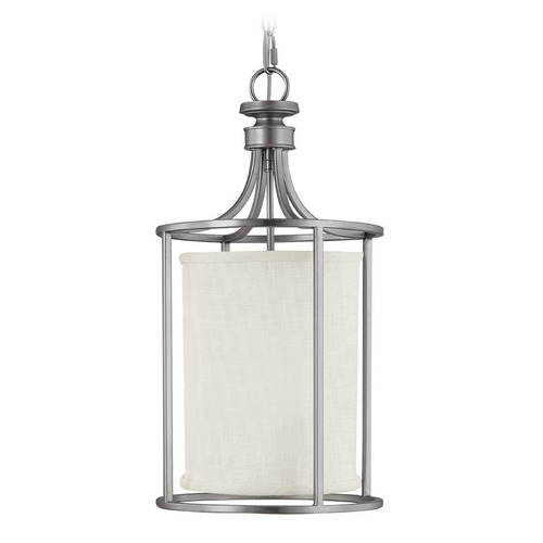 Capital Lighting Capital Lighting Midtown Matte Nickel Pendant Light with Cylindrical Shade 9047MN-478