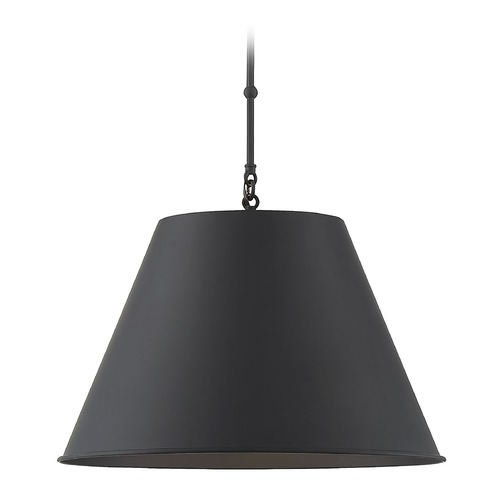 Savoy House Savoy House Lighting Alden Matte Black Pendant Light with Empire Shade 7-132-1-89