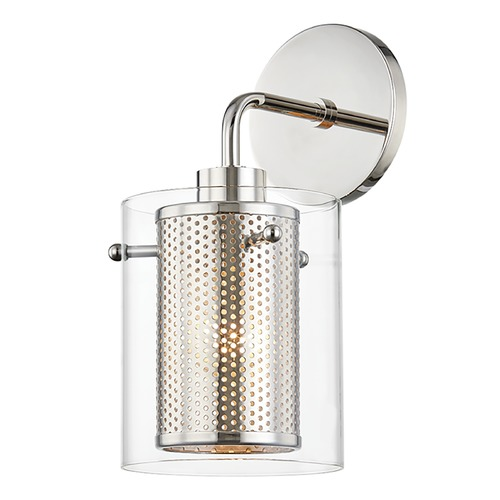 Mitzi by Hudson Valley Mitzi By Hudson Valley Mitzi Elanor Polished Nickel Sconce H323101-PN