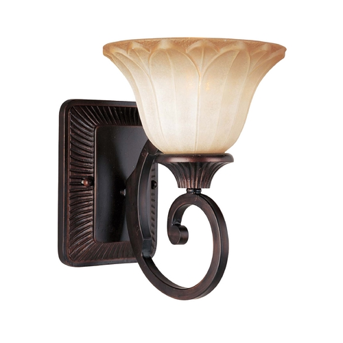 Maxim Lighting Sconce Wall Light with Beige / Cream Glass in Oil Rubbed Bronze Finish 13511WSOI
