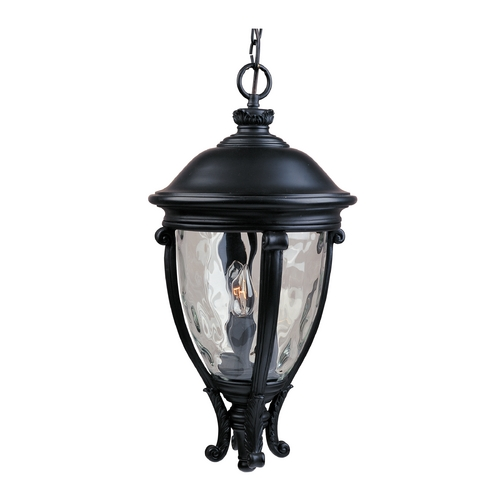 Maxim Lighting Outdoor Hanging Light with Clear Glass in Black Finish 41429WGBK