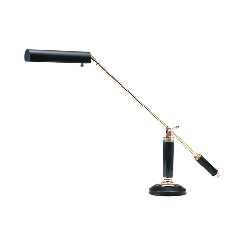 House of Troy Lighting Piano / Banker Lamp in Black & Brass Finish P10-192-617