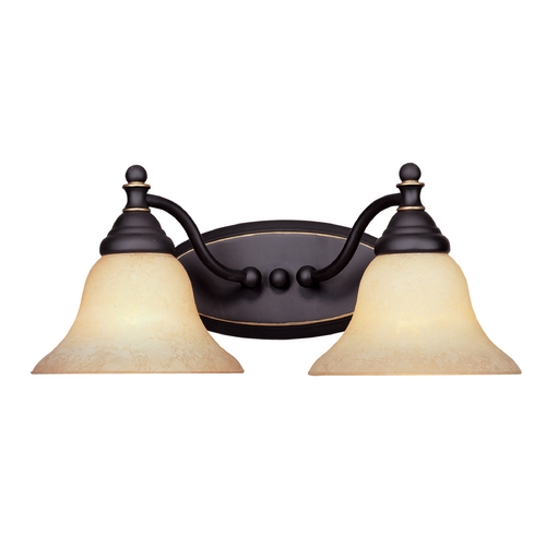 Designers Fountain Lighting Bathroom Light with Amber Glass in Aged Bronze Patina Finish 4772-AM-ABP