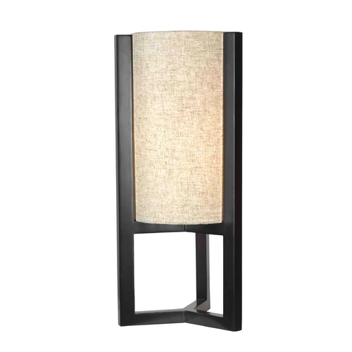 Kenroy Home Lighting Modern Table Lamp with Beige / Cream Shade in Madera Bronze Finish 32161MBR