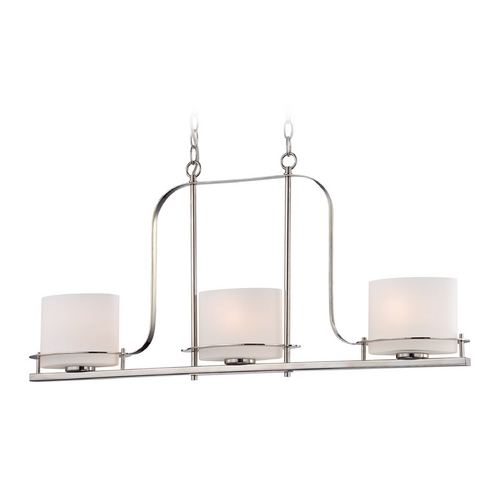 Nuvo Lighting Island Light with White Glass in Polished Nickel Finish 60/5106