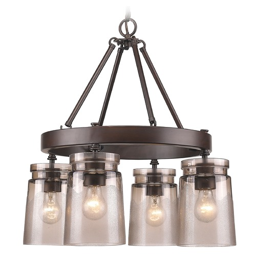 Golden Lighting Golden Lighting Travers Rubbed Bronze Chandelier 1405-4 RBZ-AG