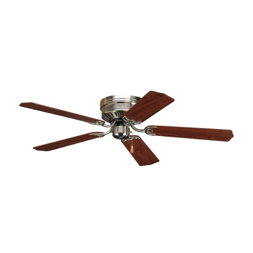 Progress Lighting Progress Ceiling Fan Without Light in Brushed Nickel Finish P2525-09