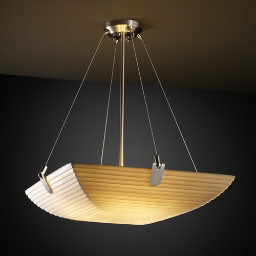Justice Design Group Justice Design Group Porcelina Collection Pendant Light PNA-9621-25-SAWT-NCKL