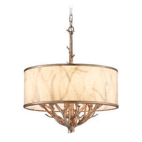 Troy Lighting Troy Lighting Whitman Vienna Bronze Pendant Light with Drum Shade F4104