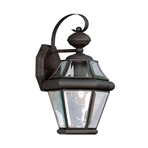 Livex Lighting Livex Lighting Georgetown Black Outdoor Wall Light 2161-04