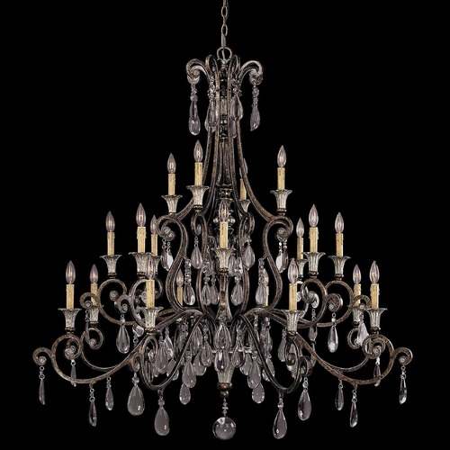 Savoy House Savoy House New Tortoise Shell W/silver Crystal Chandelier 1-3005-20-8