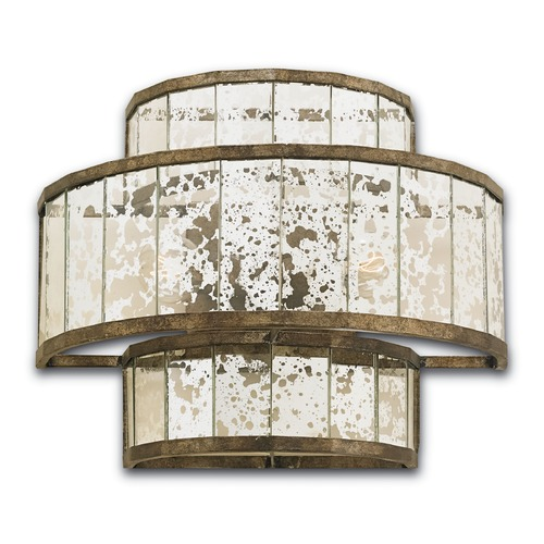Currey and Company Lighting Currey and Company Lighting Fantine Pyrite Bronze Sconce 5193
