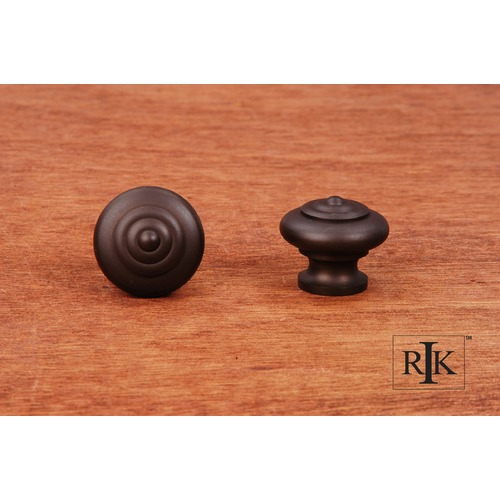 RK International Solid Knob with Circle @ Top CK9307RB