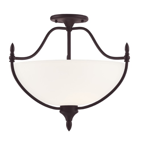 Savoy House Savoy House Lighting Herndon English Bronze Semi-Flushmount Light 6-1005-3-13