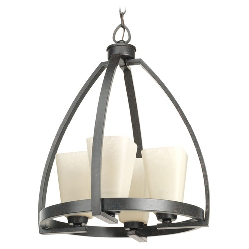 Progress Lighting Progress Lighting Ridge Espresso Pendant Light with Square Shade P4657-84