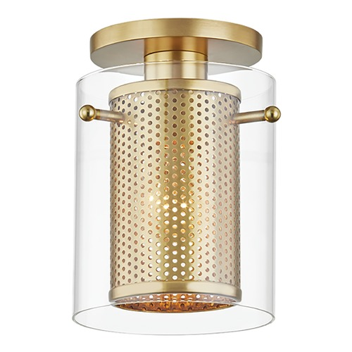 Mitzi by Hudson Valley Mitzi By Hudson Valley Mitzi Elanor Aged Brass Semi-Flushmount Light H323601-AGB