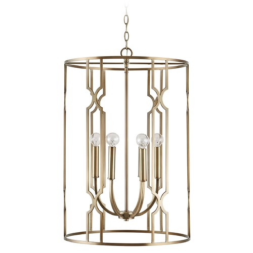 Capital Lighting Capital Lighting Jordyn 6-Light Aged Brass Pendant Light 538961AD