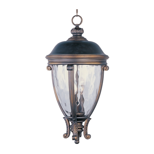 Maxim Lighting Outdoor Hanging Light with Clear Glass in Golden Bronze Finish 41429WGGO