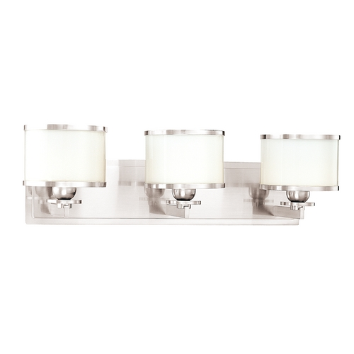 Hudson Valley Lighting Mid-Century Modern Bathroom Light Polished Nickel Basking Ridge by Hudson Valley 6103-PN