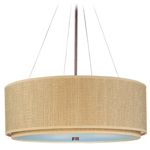 ET2 Lighting Modern Pendant Light with Brown Tones Shades in Oil Rubbed Bronze Finish E95165-101OI