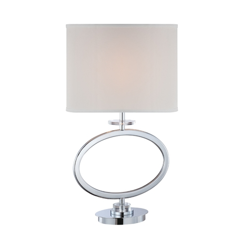 Lite Source Lighting Lite Source Lighting Renia Chrome Table Lamp with Oval Shade LS-22072