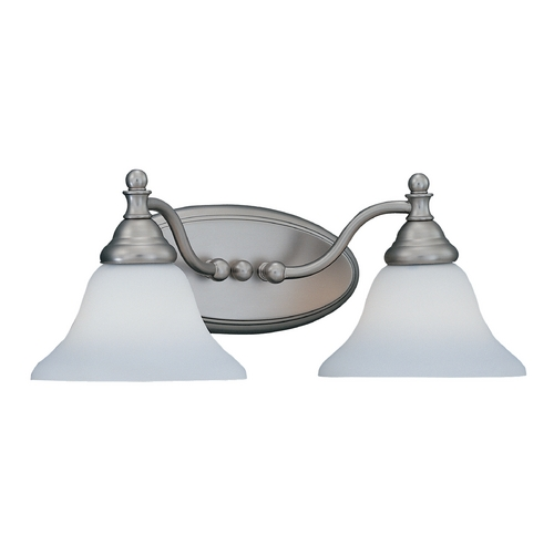 Designers Fountain Lighting Bathroom Light with White Glass in Pewter Finish 4772-PW