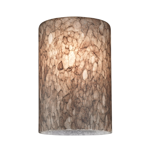 Design Classics Lighting Cylinder Art Glass Shade - Lipless with 1-5/8-Inch Fitter Opening GL1016C