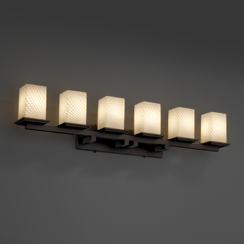 Justice Design Group Justice Design Group Fusion Collection Bathroom Light FSN-8686-15-WEVE-DBRZ