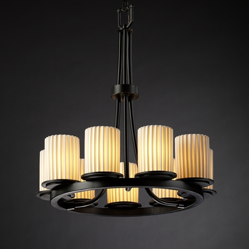 Justice Design Group Justice Design Group Limoges Collection Chandelier POR-8766-10-PLET-MBLK