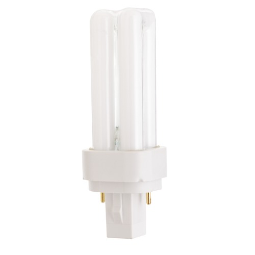 Satco Lighting Compact Fluorescent Quad Tube Light Bulb 2 Pin Base 3500K by Satco Lighting S6716