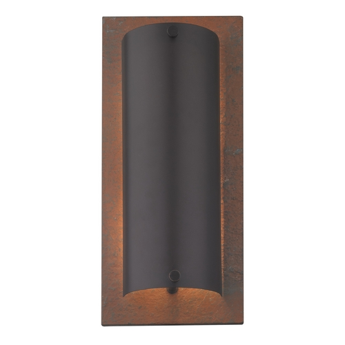 Dolan Designs Lighting Modern Sconce Wall Light in Natural Slate / Olde World Iron Finish 4914-34