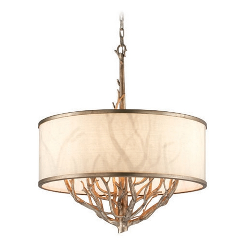Troy Lighting Troy Lighting Whitman Vienna Bronze Pendant Light with Drum Shade F4106
