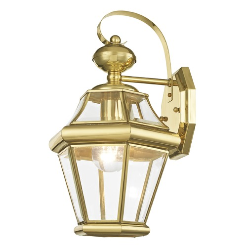 Livex Lighting Livex Lighting Georgetown Polished Brass Outdoor Wall Light 2161-02