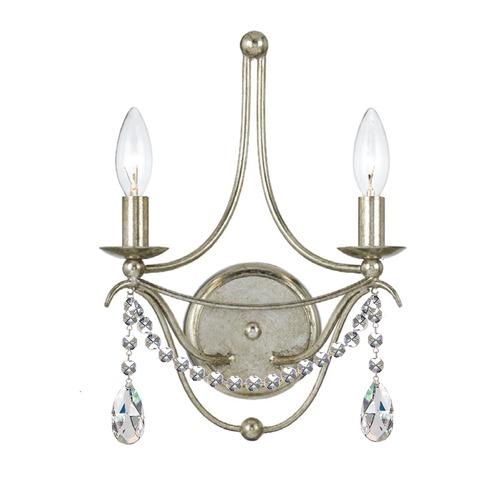 Crystorama Lighting Crystorama Lighting Hot Deal Antique Silver Sconce 412-SA-CL-MWP