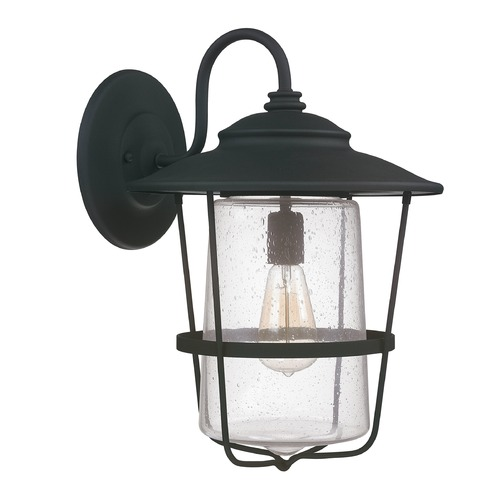 Capital Lighting Seeded Glass Outdoor Wall Light Black Capital Lighting 9603BK