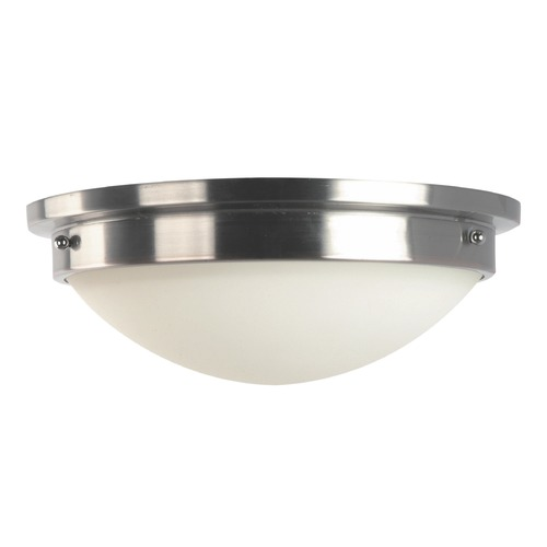 Feiss Lighting Feiss Lighting Gravity Brushed Steel / Polished Nickel LED Flushmount Light FM228BS/PN-LED