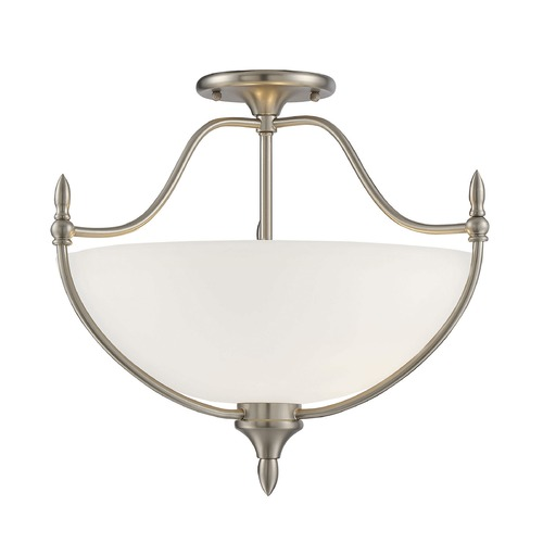 Savoy House Savoy House Lighting Herndon Satin Nickel Semi-Flushmount Light 6-1005-3-SN