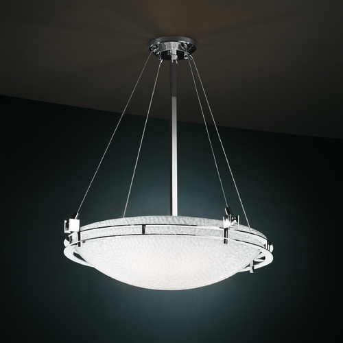 Justice Design Group Justice Design Group Metropolis Family Polished Chrome Pendant Light 3FRM-8122-35-TILE-CROM