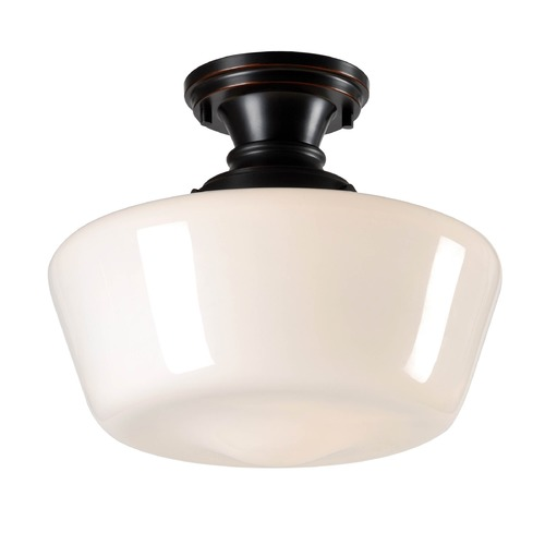 Kenroy Home Lighting Kenroy Home Cambridge Oil Rubbed Bronze Semi-Flushmount Light 93660ORB
