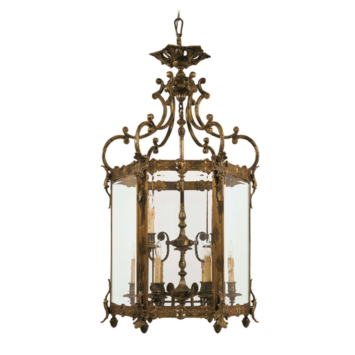 Metropolitan Lighting Pendant Light with Clear Glass in Antique Bronze Patina Finish N2345