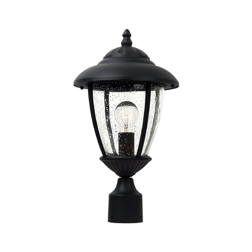 Sea Gull Lighting Post Light with Clear Glass in Black Finish 82068-12