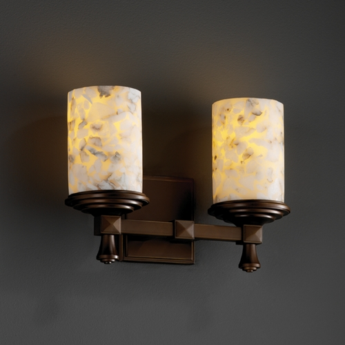 Justice Design Group Justice Design Group Alabaster Rocks! Collection Bathroom Light ALR-8532-10-DBRZ