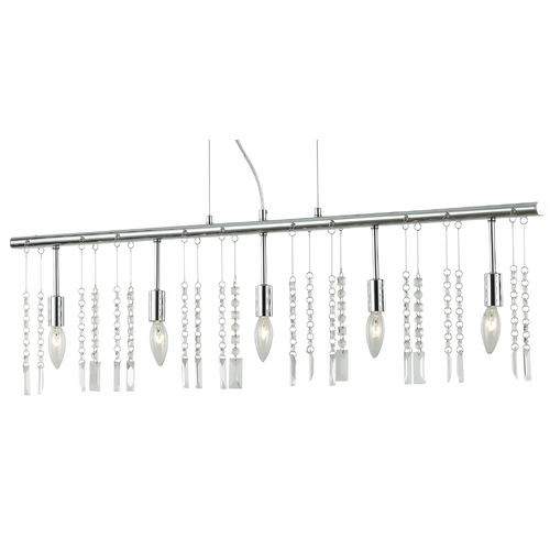 Ashford Classics Lighting Crystal Linear Chandelier Pendant Light with Five Lights 2241