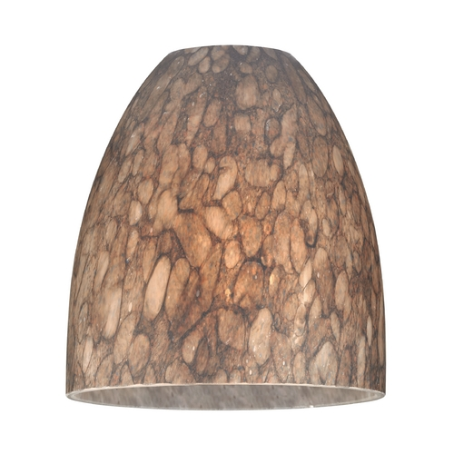 Design Classics Lighting Bell Art Glass Shade - Lipless with 1-5/8-Inch Fitter Opening GL1016MB