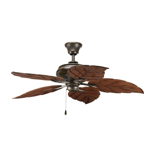 Progress Lighting Progress Ceiling Fan Without Light in Antique Bronze Finish P2526-20