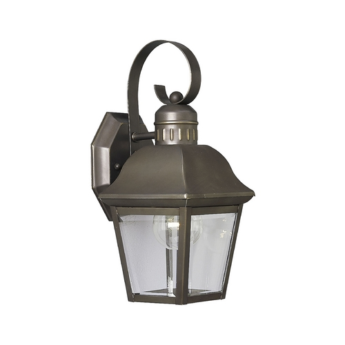 Progress Lighting Progress Outdoor Wall Light with Clear Glass in Antique Bronze Finish P5687-20