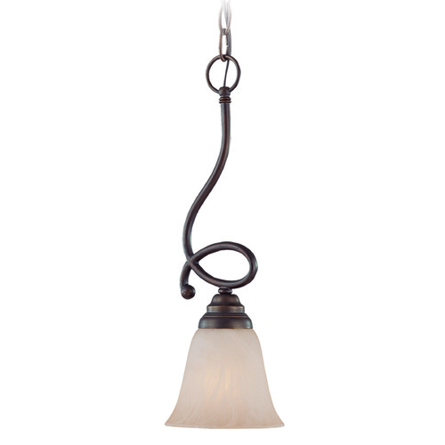 Jeremiah Lighting Jeremiah Cordova Old Bronze Mini-Pendant Light with Bell Shade 25021-OB