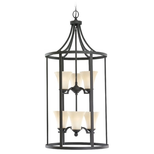 Sea Gull Lighting Sea Gull Lighting Somerton Blacksmith Pendant Light with Bell Shade 51376BLE-839