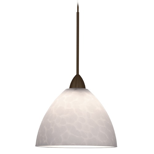 WAC Lighting WAC Lighting Americana Collection Dark Bronze LED Mini-Pendant with Bowl / Dome Sha MP-LED541-WT/DB